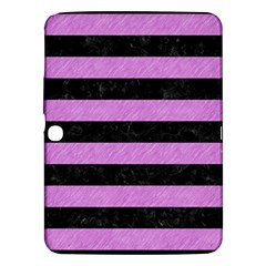 Stripes2 Black Marble & Purple Colored Pencil Samsung Galaxy Tab 3 (10 1 ) P5200 Hardshell Case  by trendistuff