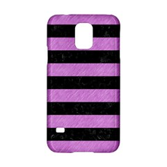Stripes2 Black Marble & Purple Colored Pencil Samsung Galaxy S5 Hardshell Case  by trendistuff