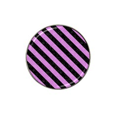 Stripes3 Black Marble & Purple Colored Pencil Hat Clip Ball Marker (10 Pack) by trendistuff