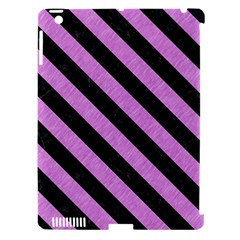 Stripes3 Black Marble & Purple Colored Pencil Apple Ipad 3/4 Hardshell Case (compatible With Smart Cover) by trendistuff
