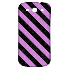 Stripes3 Black Marble & Purple Colored Pencil Samsung Galaxy S3 S Iii Classic Hardshell Back Case by trendistuff