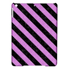 Stripes3 Black Marble & Purple Colored Pencil Ipad Air Hardshell Cases by trendistuff