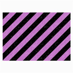 Stripes3 Black Marble & Purple Colored Pencil (r) Large Glasses Cloth by trendistuff