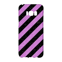 Stripes3 Black Marble & Purple Colored Pencil (r) Samsung Galaxy S8 Hardshell Case  by trendistuff