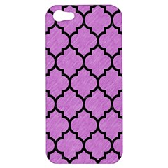 Tile1 Black Marble & Purple Colored Pencil Apple Iphone 5 Hardshell Case by trendistuff