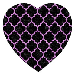 Tile1 Black Marble & Purple Colored Pencil (r) Jigsaw Puzzle (heart) by trendistuff