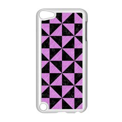 Triangle1 Black Marble & Purple Colored Pencil Apple Ipod Touch 5 Case (white) by trendistuff