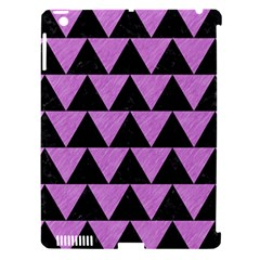 Triangle2 Black Marble & Purple Colored Pencil Apple Ipad 3/4 Hardshell Case (compatible With Smart Cover) by trendistuff