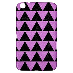 Triangle2 Black Marble & Purple Colored Pencil Samsung Galaxy Tab 3 (8 ) T3100 Hardshell Case  by trendistuff
