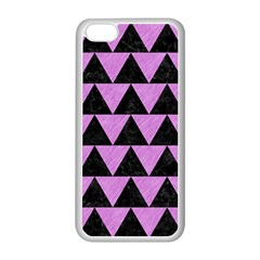 Triangle2 Black Marble & Purple Colored Pencil Apple Iphone 5c Seamless Case (white)