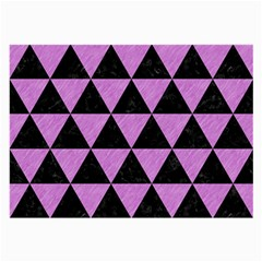 Triangle3 Black Marble & Purple Colored Pencil Large Glasses Cloth (2 Side) by trendistuff