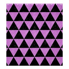 Triangle3 Black Marble & Purple Colored Pencil Shower Curtain 66  X 72  (large)  by trendistuff