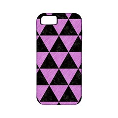 Triangle3 Black Marble & Purple Colored Pencil Apple Iphone 5 Classic Hardshell Case (pc+silicone) by trendistuff