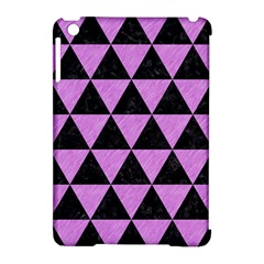 Triangle3 Black Marble & Purple Colored Pencil Apple Ipad Mini Hardshell Case (compatible With Smart Cover) by trendistuff