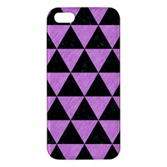 Triangle3 Black Marble & Purple Colored Pencil Iphone 5s/ Se Premium Hardshell Case by trendistuff