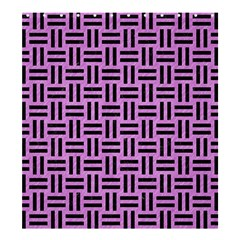 Woven1 Black Marble & Purple Colored Pencil Shower Curtain 66  X 72  (large)  by trendistuff