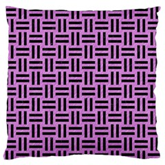 Woven1 Black Marble & Purple Colored Pencil Large Flano Cushion Case (two Sides) by trendistuff