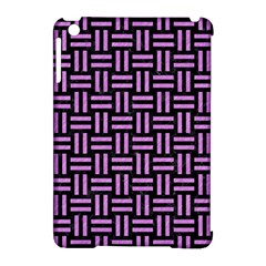 Woven1 Black Marble & Purple Colored Pencil (r) Apple Ipad Mini Hardshell Case (compatible With Smart Cover) by trendistuff