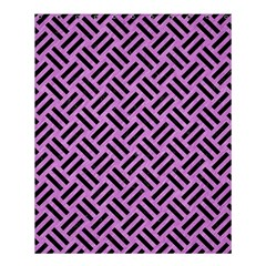 Woven2 Black Marble & Purple Colored Pencil Shower Curtain 60  X 72  (medium)  by trendistuff