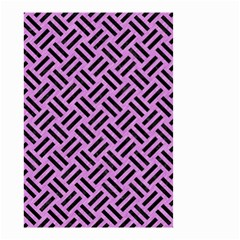 Woven2 Black Marble & Purple Colored Pencil Small Garden Flag (two Sides) by trendistuff