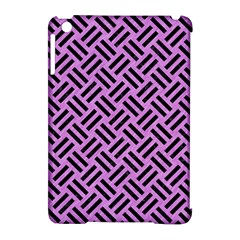 Woven2 Black Marble & Purple Colored Pencil Apple Ipad Mini Hardshell Case (compatible With Smart Cover) by trendistuff