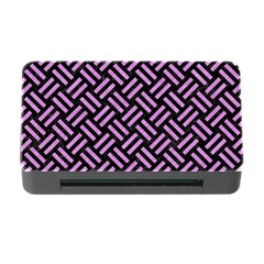 Woven2 Black Marble & Purple Colored Pencil (r) Memory Card Reader With Cf by trendistuff