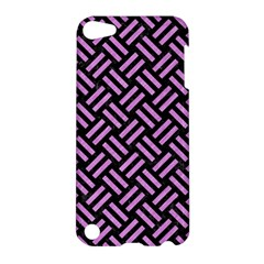 Woven2 Black Marble & Purple Colored Pencil (r) Apple Ipod Touch 5 Hardshell Case by trendistuff