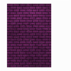 Brick1 Black Marble & Purple Leather Small Garden Flag (two Sides) by trendistuff