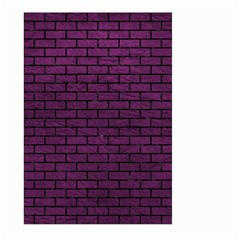 Brick1 Black Marble & Purple Leather Large Garden Flag (two Sides) by trendistuff