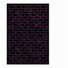 Brick1 Black Marble & Purple Leather (r) Small Garden Flag (two Sides) by trendistuff
