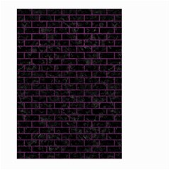 Brick1 Black Marble & Purple Leather (r) Large Garden Flag (two Sides) by trendistuff