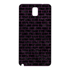 Brick1 Black Marble & Purple Leather (r) Samsung Galaxy Note 3 N9005 Hardshell Back Case by trendistuff