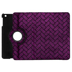 Brick2 Black Marble & Purple Leather Apple Ipad Mini Flip 360 Case by trendistuff