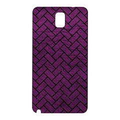 Brick2 Black Marble & Purple Leather Samsung Galaxy Note 3 N9005 Hardshell Back Case