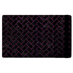Brick2 Black Marble & Purple Leather (r) Apple Ipad Pro 12 9   Flip Case by trendistuff