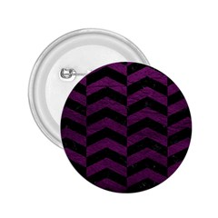 Chevron2 Black Marble & Purple Leather 2 25  Buttons by trendistuff