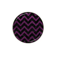 Chevron9 Black Marble & Purple Leather (r) Hat Clip Ball Marker (10 Pack) by trendistuff