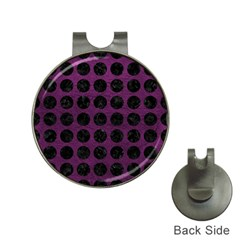 Circles1 Black Marble & Purple Leather Hat Clips With Golf Markers by trendistuff