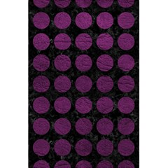 Circles1 Black Marble & Purple Leather (r) 5 5  X 8 5  Notebooks by trendistuff