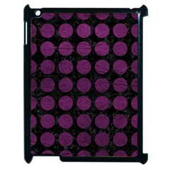 Circles1 Black Marble & Purple Leather (r) Apple Ipad 2 Case (black) by trendistuff