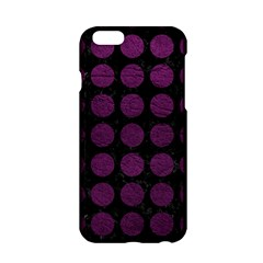 Circles1 Black Marble & Purple Leather (r) Apple Iphone 6/6s Hardshell Case by trendistuff