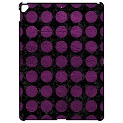 Circles1 Black Marble & Purple Leather (r) Apple Ipad Pro 12 9   Hardshell Case