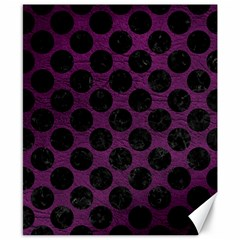 Circles2 Black Marble & Purple Leather Canvas 8  X 10  by trendistuff