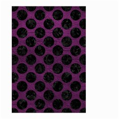 Circles2 Black Marble & Purple Leather Small Garden Flag (two Sides) by trendistuff