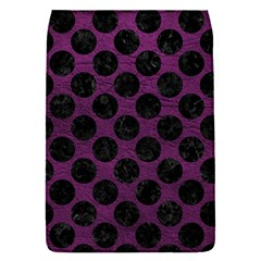 Circles2 Black Marble & Purple Leather Flap Covers (s)  by trendistuff