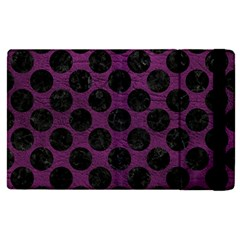 Circles2 Black Marble & Purple Leather Apple Ipad Pro 12 9   Flip Case by trendistuff