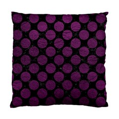 Circles2 Black Marble & Purple Leather (r) Standard Cushion Case (one Side) by trendistuff