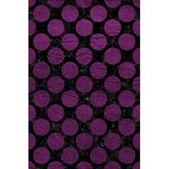 Circles2 Black Marble & Purple Leather (r) 5 5  X 8 5  Notebooks by trendistuff