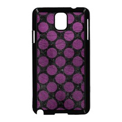 Circles2 Black Marble & Purple Leather (r) Samsung Galaxy Note 3 Neo Hardshell Case (black) by trendistuff