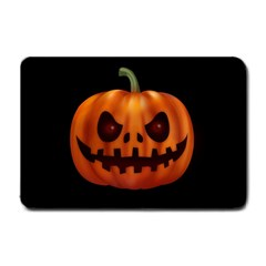 Halloween Pumpkin Small Doormat  by Valentinaart